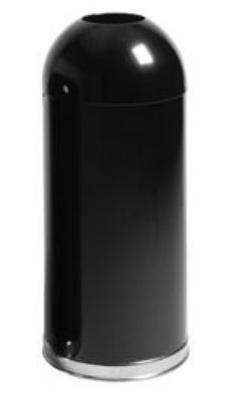 Rubbermaid FGR1536EOTPLBK 15-gal Round Waste Receptacle - O