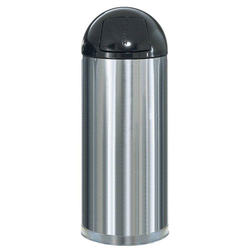 Rubbermaid FGR1536SSSGL 15-gal Round Metallic