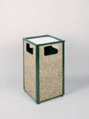 Rubbermaid FGR18SU202PL 24-gal Aspen Ash/Trash Receptacle - Rigid Plastic Liner, Desert Brown/Gree