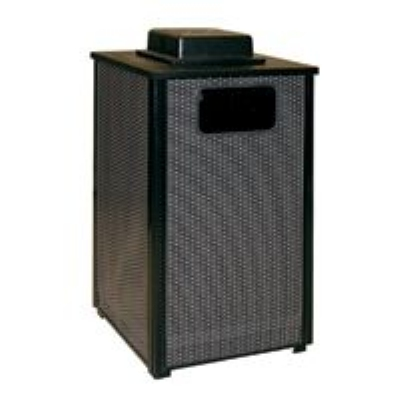 Rubbermaid FGR18WU 6000 PL 24-gal Ash/Trash Receptacle - Weather Urn, Plastic Liner, Glaci