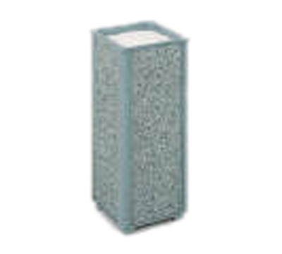"Rubbermaid FGR402000 10"" Square Aspen Urn - Dove Gray Stone/Gray"
