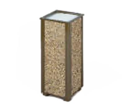 "Rubbermaid FGR40201 10"" Square Aspen Urn - Desert Brown Stone/Brown"