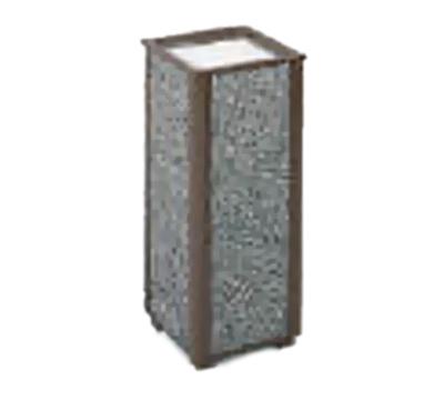 """Rubbermaid FGR406000 10"""" Square Aspen Urn - Glacier Gray Stone/Bronze"""