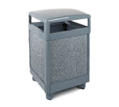 Rubbermaid FGR48HT2000PL 48-gal Aspen Waste Receptacle - Hinged Top,