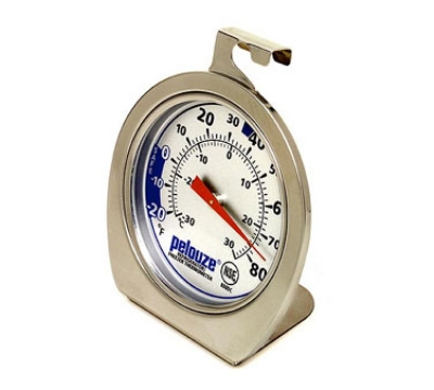 Rubbermaid FGR80DC Pelouze Refrigerator/Freezer Thermometer - Dial Type, -20 to 80 F
