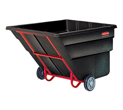 "Rubbermaid FG103600 BLA Tilt Truck - Heavy Duty, 2300-lb Capacity,  81-1/4""x46-3/4""x50"" Black"