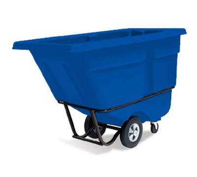 "Rubbermaid FG131500DBLUE Tilt Truck - Utility Duty, 1250-lb Capacity 72-1/4x33-1/2x43-3/4"" Blue"