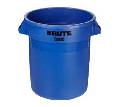 Rubbermaid 1779699 10-gal BRUTE Round Container - Blue