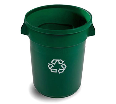 Rubbermaid 1788472 32-gal BRUTE Recycling Container - Green