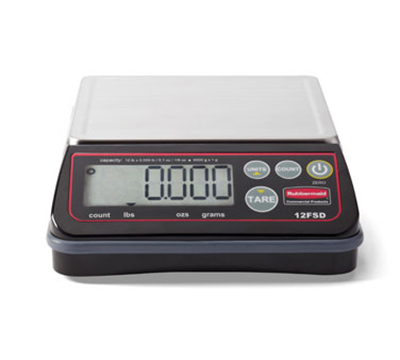 Rubbermaid 1812592 Digital Portion Control Scale - 24-lb Capacity, Stai