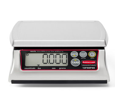 Rubbermaid 1812595 Digital Portion Control Scale - 12-lb Capacity, Dishwasher-Safe, Stainless