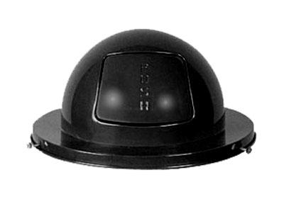 Rubbermaid FG2030BK Dome Top - (H12) - Steel, Black