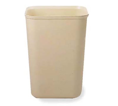 Rubbermaid FG254400BEIG 40-qt Waste Basket - Fiberglass, Beige