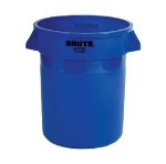 Rubbermaid FG262000DGRN 20-gal Round BRUTE Container - Handles, Dark Green