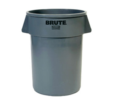 Rubbermaid FG265500DGRN 55-gal BRUTE Round Container - Dark Green