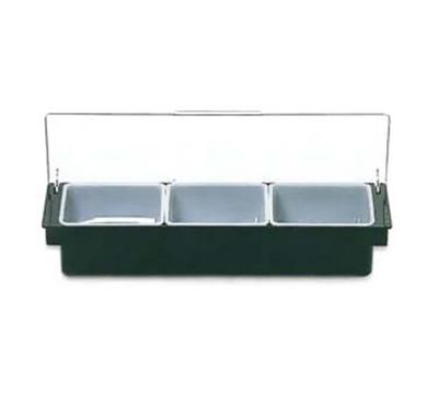 Rubbermaid FG289100BLA Condiment Dispenser - (3)1-pt Inserts, Black