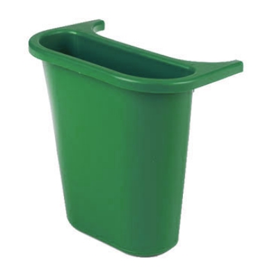 Rubbermaid FG295073 GRN 13-5/8-qt Side Bin Recycling Container - Green