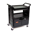 Rubbermaid FG345700BLA 3-Shelf Utility Cart - 33-5/8x18-5/8x37-3/4