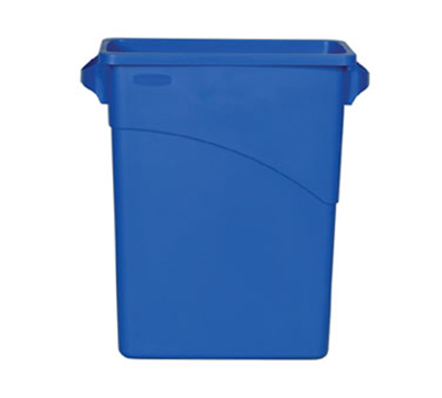 Rubbermaid FG354173 BLUE 16-gal Slim Jim Recycling Container - Blue