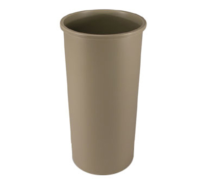 Rubbermaid FG354600 BEIG 22-gal Untouchable Container - Round, Beige