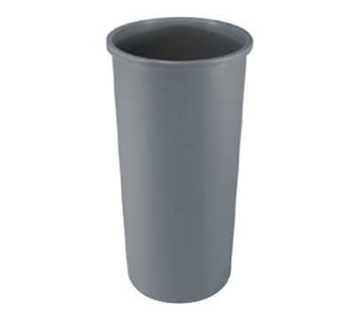 Rubbermaid FG354600 GRAY 22-gal Untouchable Container - Round, Gray