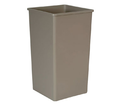 "Rubbermaid FG395900 BEIG 50-gal Untouchable Container - 19-1/2x19-1/2x34-1/4"" Beige"