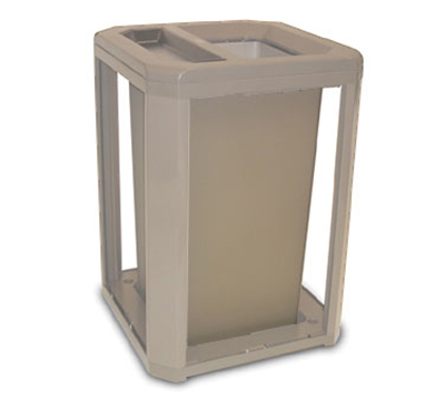 "Rubbermaid FG397100DWOOD 35-gal Landmark Series Container - 26x26x30-1/2"" Ash/Trash Frame, Drift Wood"