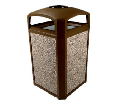 Rubbermaid FG397501 SBLE 50-gal Landmark Series Container - Dome Top Frame, Ashtray, Sable