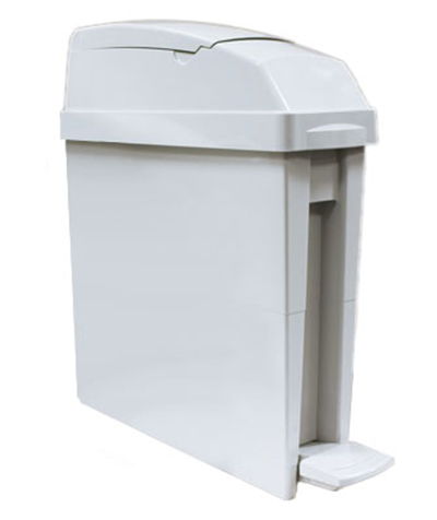 Rubbermaid FG402413 5-gal Sanitary Waste Bin - Gray