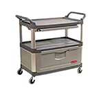 Rubbermaid FG409400 GRAY Xtra Instrument Cart - 3-Shelf, 300-lb Capacity, Lockable, Gray