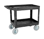 Rubbermaid FG452010 BLA Heavy Duty Utility Cart - 2-Shelf, 500-lb Capacity, 8