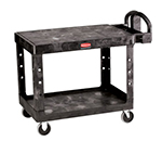Rubbermaid FG452500 BLA Flat Shelf Utility Cart - 2-Shelf, 500-lb Capacity, 5