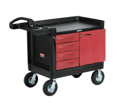 "Rubbermaid FG453388 BLA TradeMaster Mobile Cabinet - 4-Drawer, 750-lb Capacity, 5"" Castors, Black"