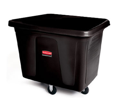 Rubbermaid FG461400 BLA Cube Truck - 14 cu ft, 400-lb Capacity, Black