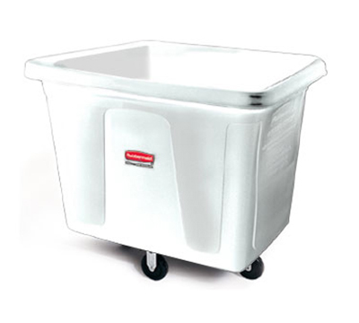 Rubbermaid FG461200 WHT Cube Truck - 12 cu ft, 400-lb Capacity, White