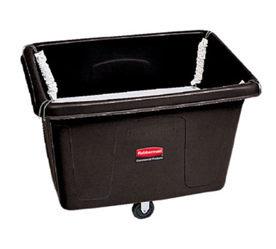 Rubbermaid FG461100 BLA Spring Platform Truck - 13 cu ft, 500-lb Capacity, Black