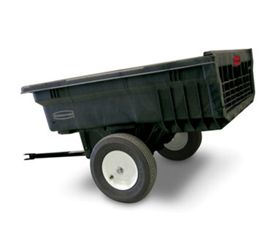 "Rubbermaid FG566000 BLA Tractor Cart - 10 cu ft Capacity, 29-1/2x68x35-1/2"" Black"