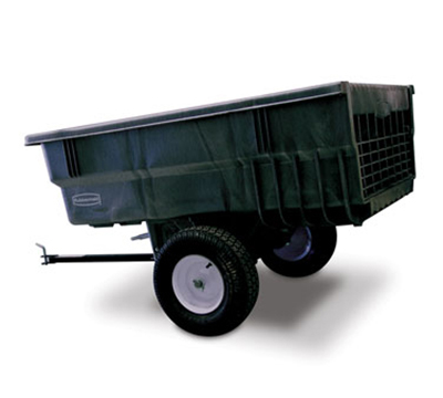 Rubbermaid FG566361 BLA Tractor Cart - 15 cu ft Capacity, 25x60x39-1