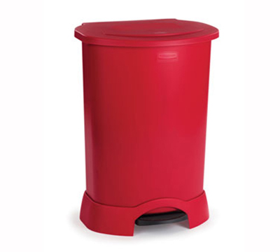 Rubbermaid FG614787 RED 30-gal Step-On Contai