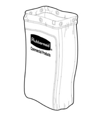 Rubbermaid FG619300 BRN Housekeeping Cart Replacement Bag