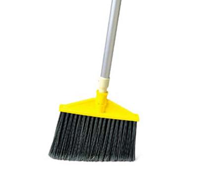 Rubbermaid FG638906BLA Smooth Sweep Angle Broom - Metal/P