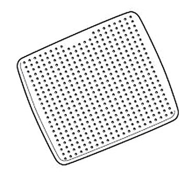 Rubbermaid FG711204 WHT Safti-Grip Shower Mat 22-1/4 in L x 22-1/4 in W Suction-Backed White Restaurant Supply