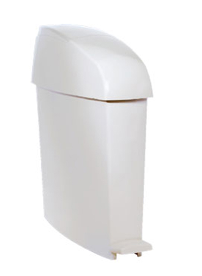 Rubbermaid FG750243 3-gal Sanitary Waste Bin - White