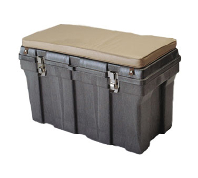 "Rubbermaid FG772000 BLA Tack Box - 24x36x24"" Structural Foam, Black"