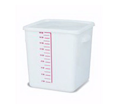 Rubbermaid FG9F0800 WHT 18-qt Square Storage Container - Poly White