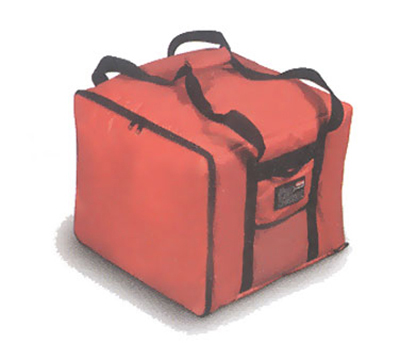 """Rubbermaid FG9F3800 RED Pizza Catering Bag - Insulated Nylon, 17x17x13"""" Red"""