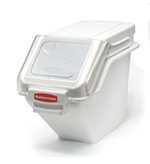 Rubbermaid FG9G5700 WHT ProSave Safety Storage Bin with Scoop - 100-cup Capacity, 23.5x11.5x16.8