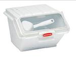 Rubbermaid FG9G6000 WHT ProSave Safety Storage Bin with Scoop - 40-cup Capacity, 15x11.75x8.5