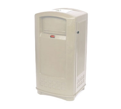 Rubbermaid FG9P9100 BLA 35-gal Plaza Jr Trash Contain