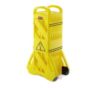 Rubbermaid FG9S1100 YEL Mobile Barrier - Yellow